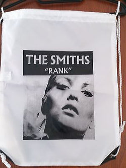 THE SMITHS - RANK  - PLASTIC CANVAS DRAW STRING BACKPACK