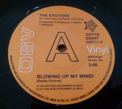 EXCITERS - BLOWING UP MY MIND (OUTTA SIGHT DEMO) Mint Condition
