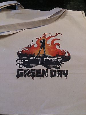 GREEN DAY - COTTON TOTE  BAG (Machine Washable)