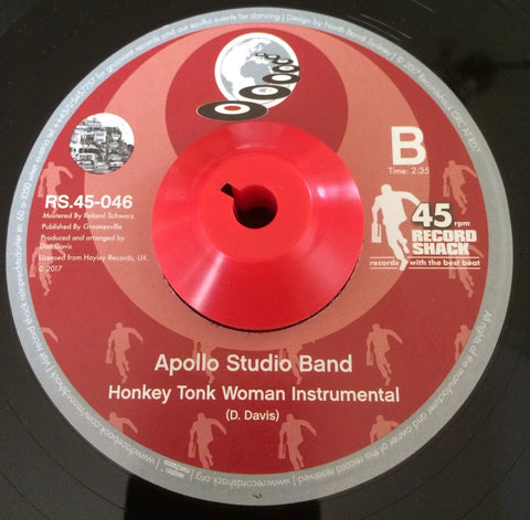 APOLLO STUDIO BAND - HONKEY TONK WOMAN (RECORD SHACK) Mint Condition