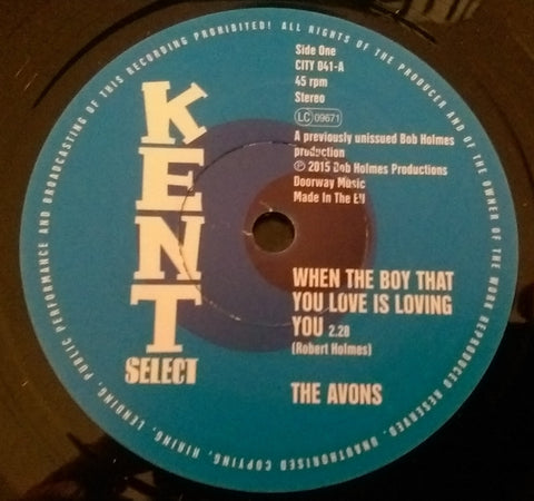 AVONS - WHEN THE BOY THAT YOU LOVE IS LOVING YOU (KENT CITY) Mint Condition