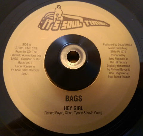 BAGS - HEY GIRL (IT'S SOUL TIME) Mint Condition