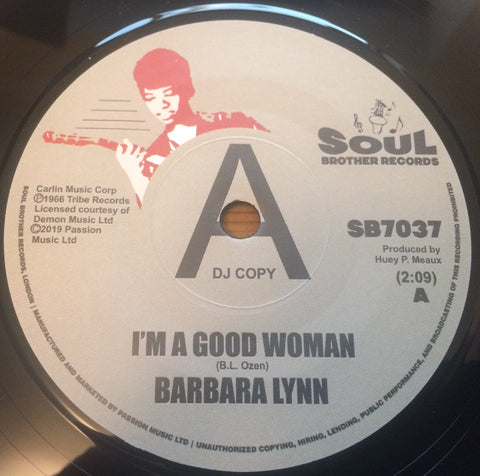 BARBARA LYNN - I'M A GOOD WOMAN (SOUL BROTHER DEMO 26/100) Mint Condition