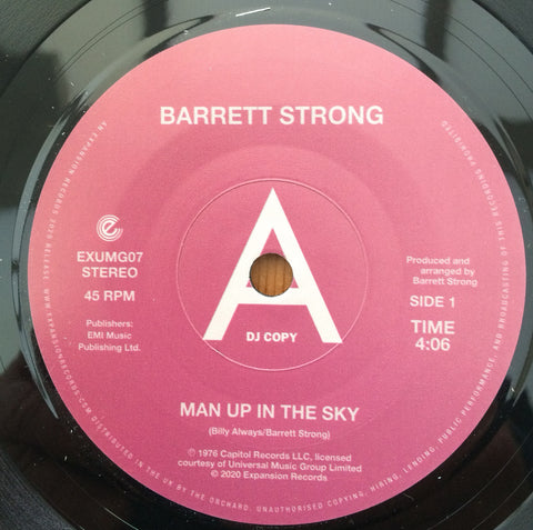 BARRETT STRONG - MAN UP IN THE SKY ( EXPANSION) Mint Condition