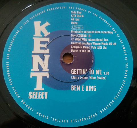 BEN E KING - GETTIN' TO ME (KENT) Mint Copy