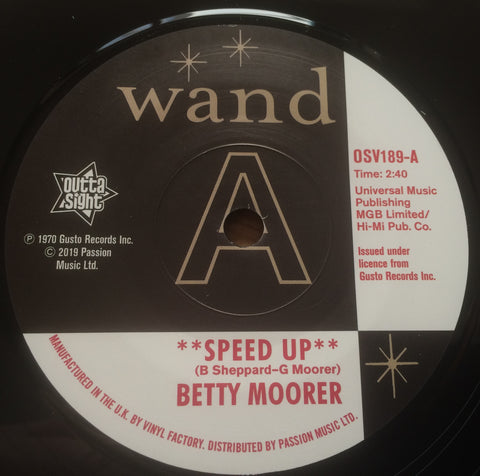 BETTY MOORER - SPEED UP  (OUTTA SIGHT DEMO) Mint Condition