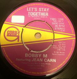 BOBBY M with JEAN CARN - LET'S STAY TOGETHER (GORDY) Ex Condition