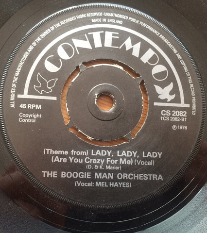 BOOGIE MAN ORCHESTRA - LADY, LADY, LADY (CONTEMPO)  Ex Condition.