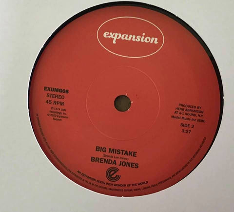 BRENDA JONES - MY MISTAKE (EXPANSION) Mint Condition