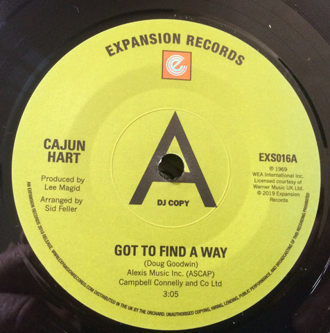 CAJUN HART - GOT TO FIND A WAY (EXPANSION DEMO No.93/100) Mint Condition