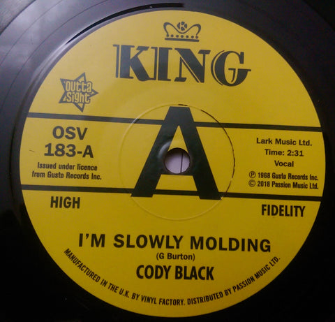 CODY BLACK - I'M SLOWLY MOULDING (OUTTA SIGHT DEMO) Mint Condition