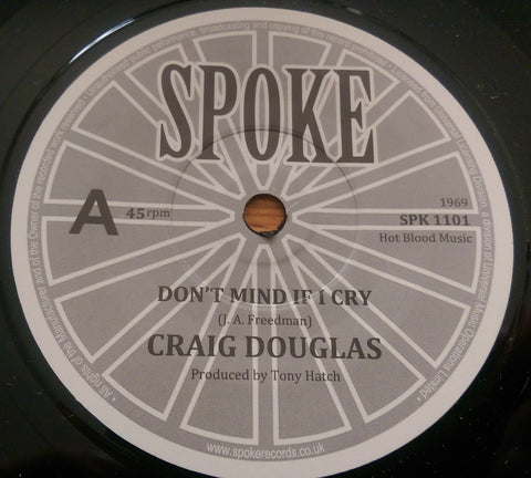 CRAIG DOUGLAS - DON'T MIND IF I CRY (SPOKE) Mint Condition