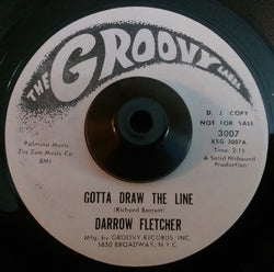 DARROW FLETCHER - GOTTA DRAW THE LINE (GROOVY W/Demo) Ex Condition