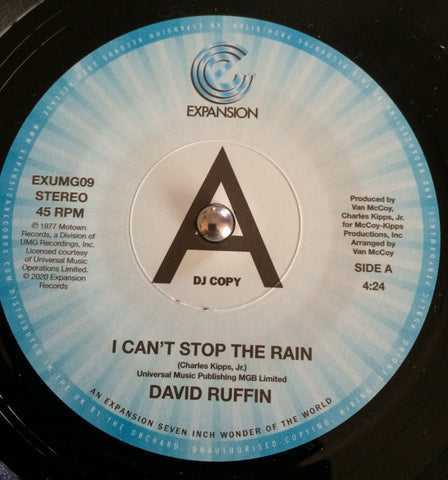 DAVID RUFFIN - I CAN'T STOP THE RAIN (EXPANSION DEMO) Mint Condition