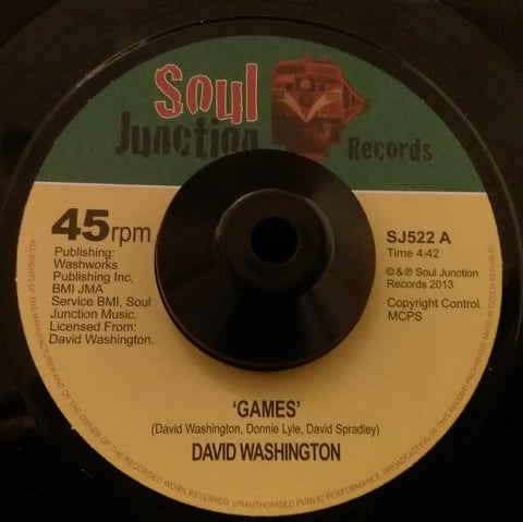 DAVID WASHINGTON - GAMES (SOUL JUNCTION) Mint Condition