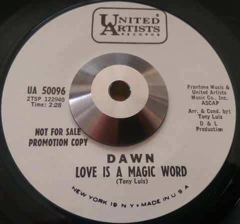 DAWN - LOVE IS A MAGIC WORD