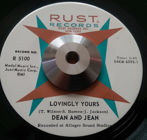 DEAN AND JEAN - LOVINGLY YOURS (RUST) Ex Condition
