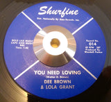 DEE BROWN & LOLA GRANT - WE BELONG TOGETHER (SHUFINE) Ex Condition