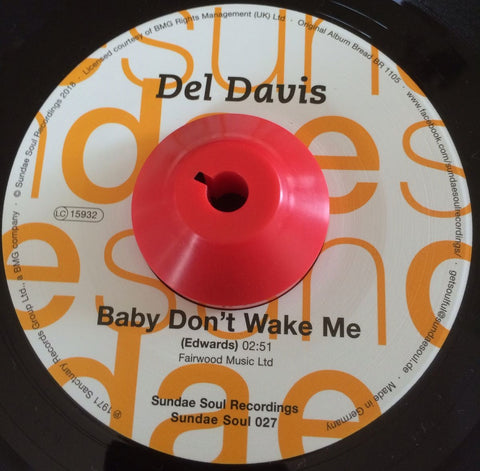 DEL DAVIS - BABY DON'T WAKE ME (SUNDAE SOUL) Mint Condition