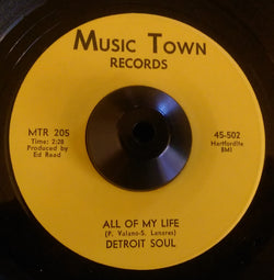 DETROIT SOUL - ALL OF MY LIFE (MUSIC TOWN) Ex Condition