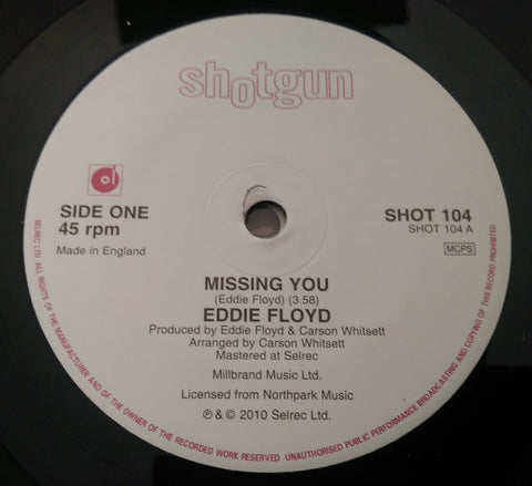 EDDIE FLOYD - MISS YOU (SHOTGUN) Mint Condition