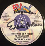 EDDIE HOLMAN - THIS WILL BE A NIGHT TO REMEMBER (OUTTA SIGHT DEMO - SIGNED) Mint Condition