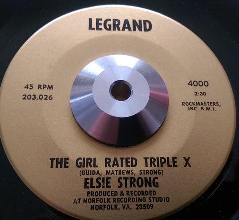 ELSIE STRONG - THE GIRL IS RATED TRIPLE X (LEGRAND) Ex Condition