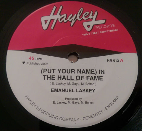 EMANUEL LASKEY - HALL OF FAME (HAYLEY) Mint Condition