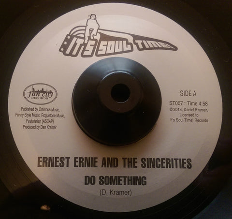 ERNEST ERNIE & THE SINCERITIES - DO SOMETHING (IT'S SOUL TIME) Mint Condition