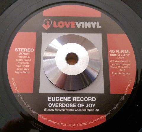 EUGENE RECORD - OVERDOSE OF JOY (LOVE VINYL) Mint Condition