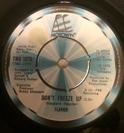 FLAVOR - DON'T FREEZE UP (MOTOWN) Ex Condition
