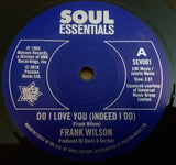 FRANK WILSON - DO I LOVE YOU (OUTTA SIGHT Demo) Mint Condition