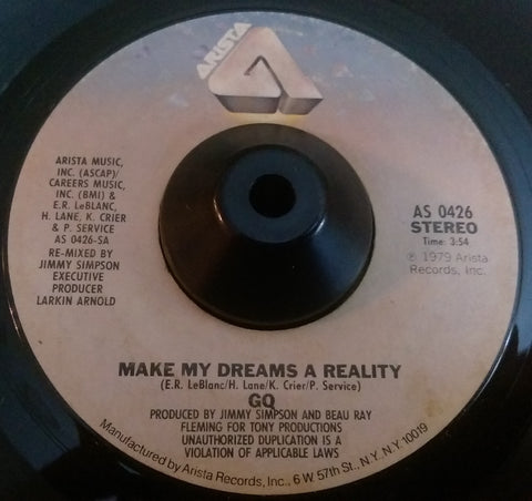 GQ - MAKE MY DREAMS A REALITY (ARISTA) Vg+ Condition