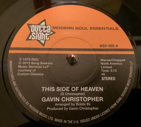 GAVIN CHRISTOPHER - THIS SIDE OF HEAVEN (OUTTA SIGHT) Mint Condition