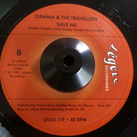 GEMMA & THE TRAVELLERS - SAVE ME (LEGERE) Mint Condition