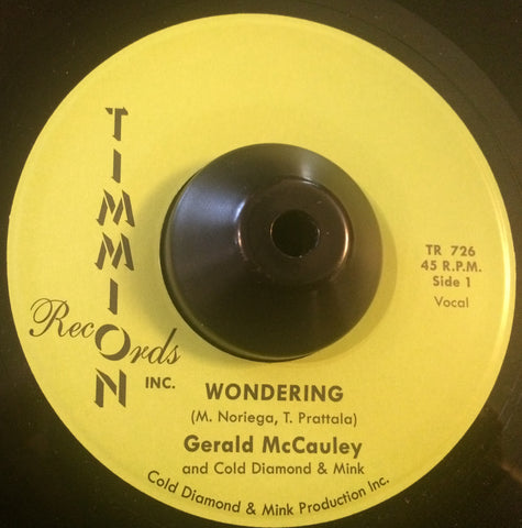 GERALD McCAULEY - WONDERING (TIMMION) Mint Condition
