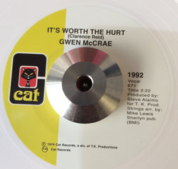 GWEN McCRAE - IT'S WORTH THE HURT (CAT - White Vinyl) Mint Condition