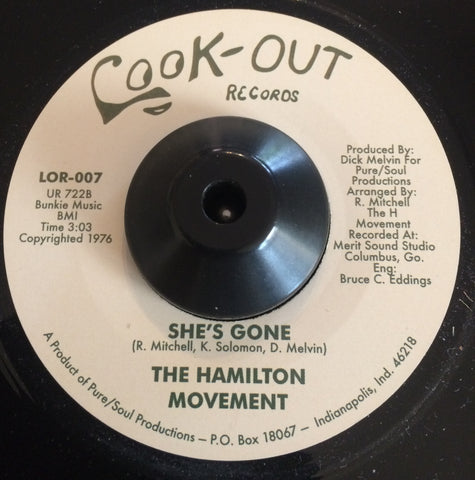 HAMILTON MOVEMENT - SHE'S  GONE (LOOK-OUT) Mint Condition