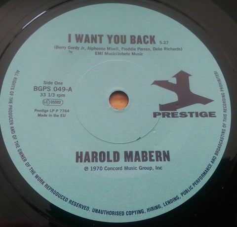 HAROLD MABERN - I WANT YOU BACK (BGPS) Mint Condition