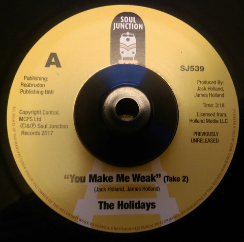 HOLIDAYS - YOU MAKE ME WEAK (SOUL JUNCTION) Mint Condition