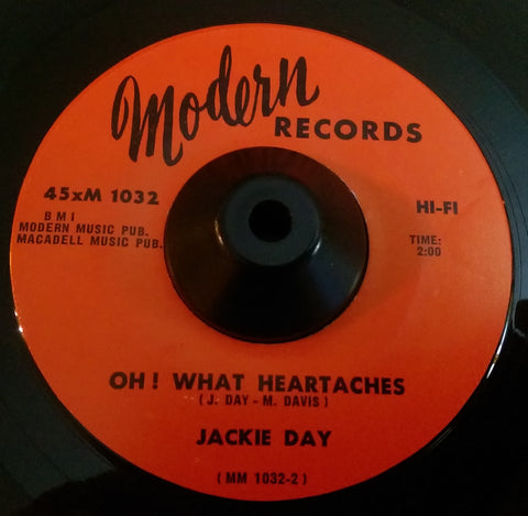 JACKIE DAY - OH! WHAT HEARTACHES (MODERN) Ex Condition