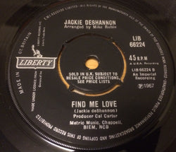 JACKIE DeSHANNON - FIND ME LOVE (LIBERTY) Ex Condition