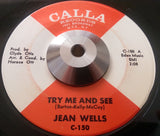 JEAN WELLS - THE BEST THING FOR YOU BABY (CALLA) Vg+ Condition