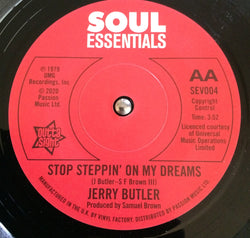 JERRY BUTLER - STOP STEPPING ON MY DREAMS (SOUL ESSENTIALS DEMO) Mint Condition