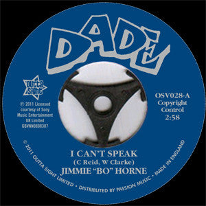 JIMMY BO HORNE - I CAN'T SPEAK (OUTTA SIGHT) Mint Condition