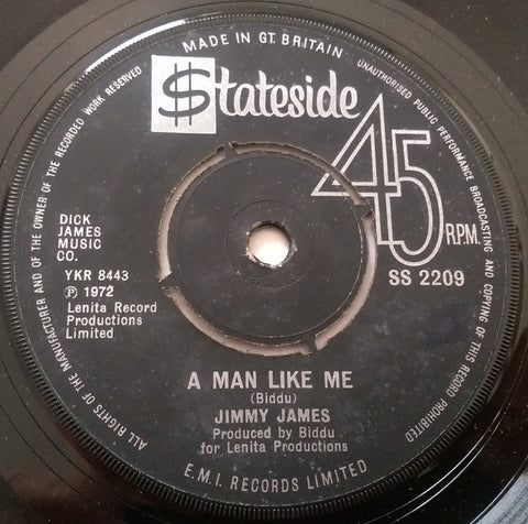JIMMY JAMES - A MAN LIKE ME (STATESIDE) Ex Condition