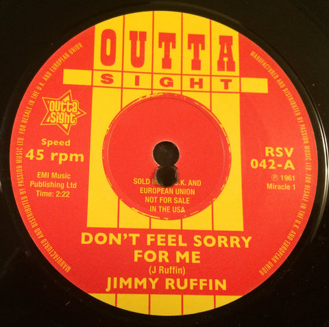 JIMMY RUFFIN - DON'T FEEL SORRY FOR ME (OUTTA SIGHT) Mint Condition
