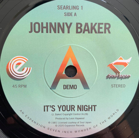 JOHNNY BAKER - IT'S YOUR NIGHT (EXPANSION) Mint Condition