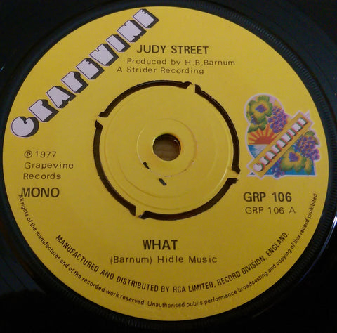 JUDY STREET - WHAT (GRAPEVINE) Vg+ Condition