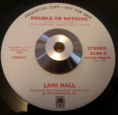 LANI HALL - DOUBLE OR NOTHING (A&M Promo) Ex Condition